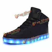 Унисекс USB LED свет кружева вверх высокие светящиеся обувь спортивная пара кроссовок светящиеся