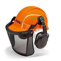 Шлем защитный STIHL Economy с сеткой и наушниками