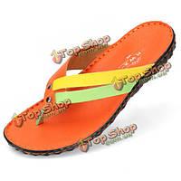 NEW Design Fashion flip flops slippers handmade leather flip flops slippers