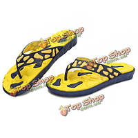 Мужчины летние пляжные сандалии дышащие пляжные тапочки флип-флоп