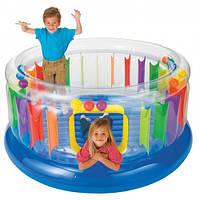 Детский игровой центр, батут надувной Intex 48264, размеры 182*86см