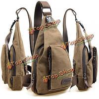 Мужская холщевая рюкзак через плечо сумка для туризма