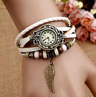 Женские часы-браслет винтажные белые Перо, фото 1