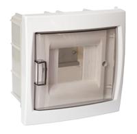 Бокс для автоматических выключателей (четырехместный для скрытой установки с дверцей)
