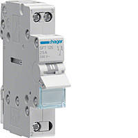 Переключатель рубильник I-0-II трехпозиционный 1P, 25А, SFB125 Hager