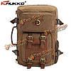 Мужской актический холстинковый рюкзак в армейском стиле