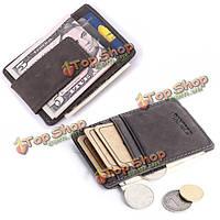 Мужчины натуральная кожа кредитной карты случае деньги держатель удостоверения личности карман