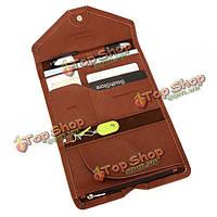 Корейский паспорт мешок многофункциональный тонкий мужчины женщины путешествия пакет документов монета мешок брелок