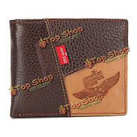 Мужчины бизнес реальный коровья кожа три стиля мешок денег бумажник
