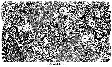 Пластина для стемпинга Flowers01