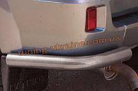 Защита заднего бампера уголки одинарные(крашенные) D60 на УАЗ Patriot