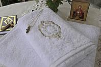 Крестильное полотенце Gül Güler Rozet White