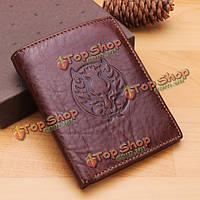 Ретро натуральной кожи бумажник мужчины винтажном стиле дракона человек кошелек