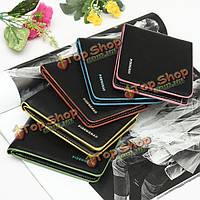 Мужчин двойные кредитные карточки удостоверения личности держателя тонкий деньги кошелек портмоне бумажник