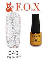 Гель-лак FOX № 040 (серебристый), 6 мл