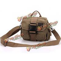 Мужская холст Открытый Туризм ttavel поясная сумка винтажный стиль отдыха Crossbody мешок
