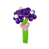Букет из 3 фиолетовых ромашек из воздушных шаров