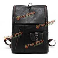 Марочных мужской кожаный рюкзак сумка портфель рюкзак ноутбук сумка