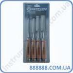 Набор стамесок с деревянной ручкой (6-24мм) 4ед. SWC0101 Стандарт