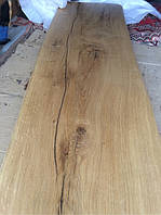 Наша работа по деревянной столешнице из дуба. Дизайн сделан в грубом первозданном стиле.