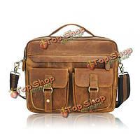 Мужская ретро сумка деловая и повседевная сумка