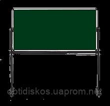 Оборотная доска для мела ABC Office 90 x 120 см, алюминиевая рама