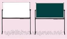 Оборотная маркерно-меловая доска ABC Office 100 x 150 см, алюминиевая рама