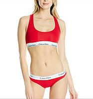 Спортивный комплект Calvin Klein стринги, красный, фото 1