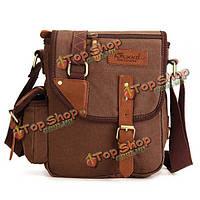 Kaukko мужчины холст простой дизайнер сумки посыльного многофункциональных случайные путешествия Crossbody мешок