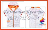 Кофта с капюшоном и коротким рукавом с Вашим логотипом (под заказ от 50 шт.)