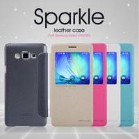 Кожаный чехол (книжка) Nillkin Sparkle Series для Samsung Galaxy A7 (A700H/A700F)