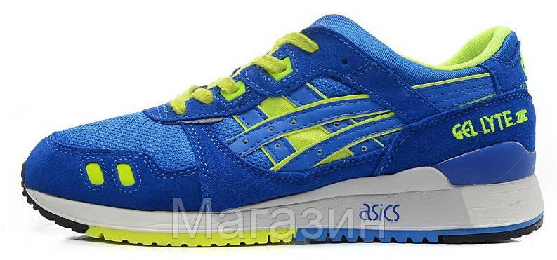 """Женские кроссовки Asics Gel Lyte 3 """"Blue"""" (в стиле Асикс Гель Лайт 3) синие"""