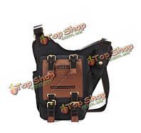 Ретро брезентовый мешок посыльного сумок на длинном ремне путешествия темнокожих мужчин kaukko