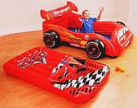 Детский игровой центр Intex 48667, надувная машина Тачки + матрас + шарики