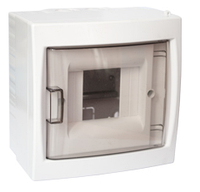Бокс для автоматических выключателей (четырехместный для открытой установки с дверцей)