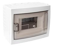 Бокс для автоматических выключателей (шестиместный для открытой установки с дверцей)