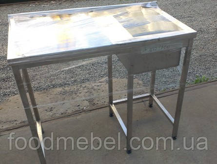 Стол с мойкой из нержавеющей стали для посудомоечной машины