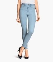Женские голубые джинсы с завышеной талией H&M в наличии S M , фото 1