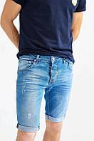 Мужские джинсовые шорты Givenchy голубые до колена