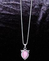 Підвіска на сріблястій ланцюжку з великим каменем, фото 1
