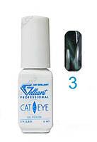 Гель-лак VELENA Cat's eye 03 Сине-зеленый