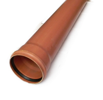 Пластиковая канализационная труба пвх ду200*1 метра evci 3.5 мм