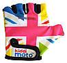Перчатки детские Kiddi Moto британский флаг в цветах радуги, размер М на возраст 4-7 лет
