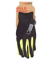 Перчатки Green Cycle NC-2581-2015 WindStop с закрытыми пальцами XL черно-зеленые