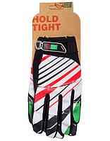 Перчатки Green Cycle NC-2369-2014 MTB с закрытыми пальцами L бело-красные