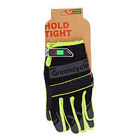 Перчатки Green Cycle NC-2373-2014 MTB с закрытыми пальцами M черно-зеленые
