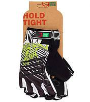 Перчатки Green Cycle NC-2303-2014 MTB Gel без пальцев S черно-бело-зеленые