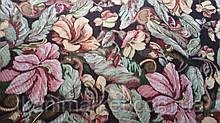 Гобелен K-10 квіти на темному оббивна меблева тканина Туреччина (віт)