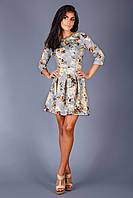 Оригинальное платье в цветочный принт