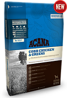 Acana cobb chicken & greens 11,4кг -корм для взрослых собак с курицей и зеленью